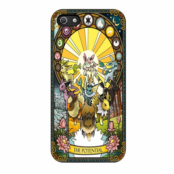 the best attitude c7fb6 56519 Sylveon Leafeon Glaceon Espeon Vaporeon Umbreon Flareon Jolteon Eevee  Pokemon-Custom Protector Cell Phone Case for Iphone and Samsung Galaxy
