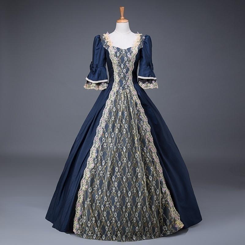 a362a5094e02c Women Renaissance Medieval Victorian Retro Dress Party Costume Ball ...