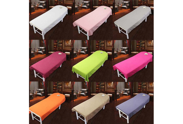 Beauty Salon Sheets SPA Massage Treatment Bed Table Cover Sheets With Hole