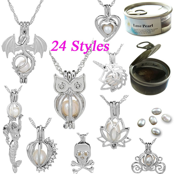 925 sterling silver necklace, Owl, skull, Chain