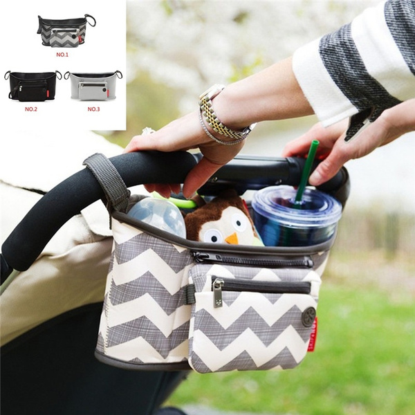 New Canvas Baby Cart Strollers Bag Organizer Basket Pushchair Cup Bag Portable