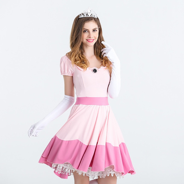 Wish | Women Super Mario Brothers Party Cosplay Halloween Costumes For Women Adult Princess Peach Costume  sc 1 st  Wish & Wish | Women Super Mario Brothers Party Cosplay Halloween Costumes ...
