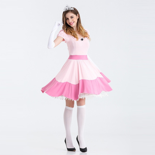 Wish   Super Mario Bros Princess Peach Short Dress Game Cosplay Costume Womenu0027s Pink Princess Costume  sc 1 st  Wish & Wish   Super Mario Bros Princess Peach Short Dress Game Cosplay ...