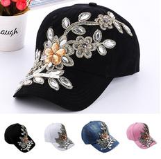 Baseball Hat, Summer, sports cap, Flowers