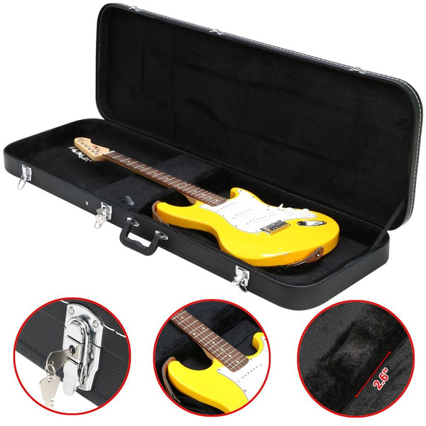 7c394bd534 Wish   Acoustic Guitar Hardshell Case Fits Most Acoustic Guitars with Key  Lock,Black