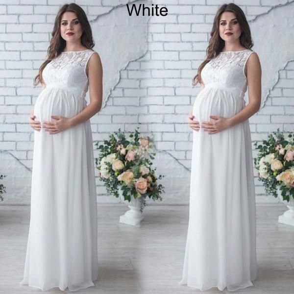 Wish | Women Floral Lace Chiffon Maternity Dress Maxi Dress ...