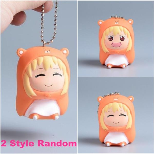 1Pc PVC Doma Umaru Keyring Himouto Umaru-chan Anime Keychain Pendant Ornament