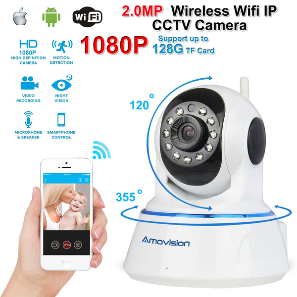 Full HD 1080P APK# WIFI Wireless IP Camera APP# DE# Mobile iPhone Android  Night Vision