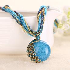 peacock, Jewelry, variou, boho