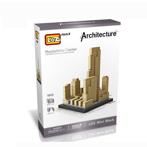 LOZ Blocos Building Blocks Architecture Model Toys For Children Forge World  City House Buildings Bricks 1003