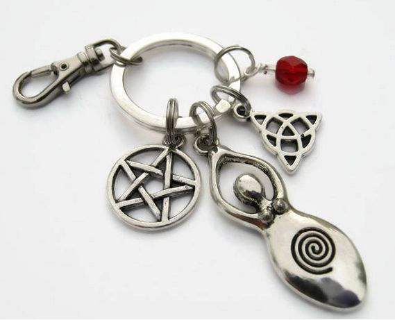 monogram, Key Chain, pagan, pentaclejewelry