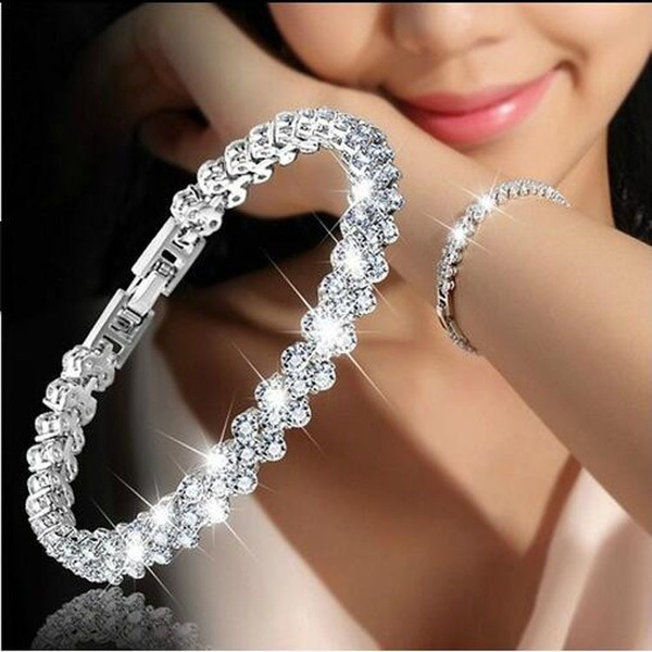 0989997b5bbc 3 Color Women Fashion Roman Style Woman 925 Sterling Silver Crystal ...