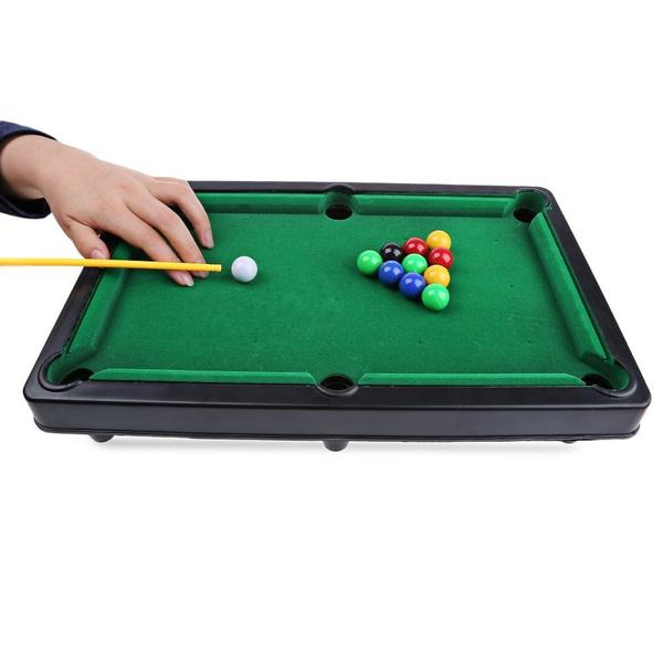 Wish Mini Billiard Ball Snooker Pool Table Top Game Set Kids Toy - Mini pool table size