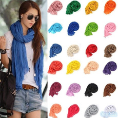 Scarves, women scarf, candy color, Food