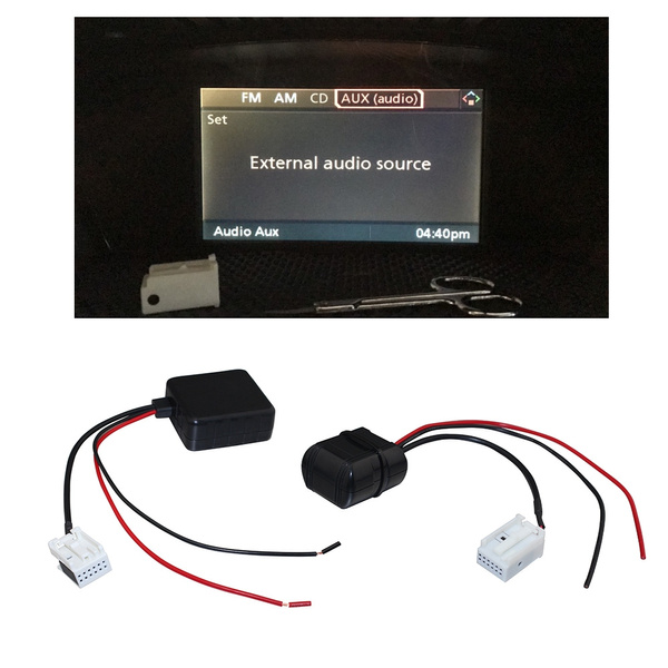 Car Bluetooth Module for BMW E60 04-10 E63 E64 E61 Radio Stereo Aux Cable  Adapter with Filter Wireless Audio Input