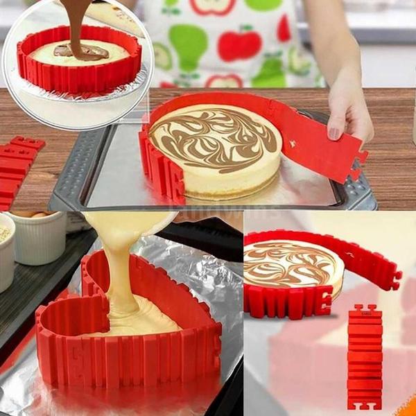 Wish | New Arrival 4pcs/set Snake Food Grade Silicone Cake Mold Magic Bake Mould Tools Stitch Any Shape DIY Baking Cake
