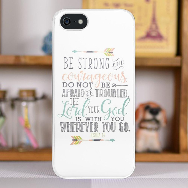 Joshua 1:9 Bible Verse Plastic Snap-On Case Skin Cover For iPhone 6 Plus