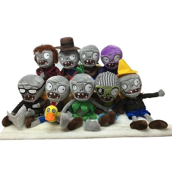 Plants VS Zombies Gargantuar Zombie PVZ Plush Toys Soft Stuffed Dolls  Cosplay Toy Doll for Kids Children Gifts Collection 30CM