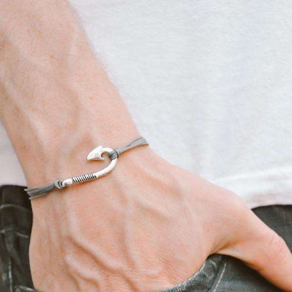 Bracelets Fish Hook Bracelet Men Bangle
