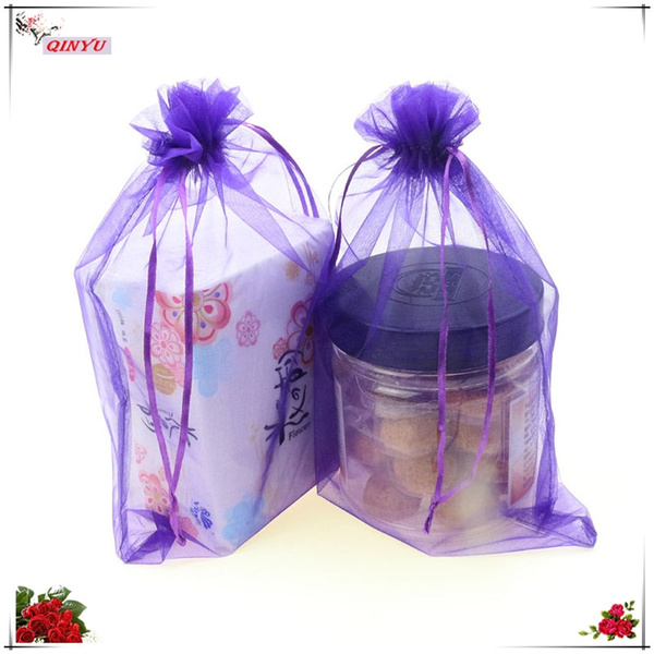 Style Jewelry Bag Cosmetic Bags Christmas Candy Gift Stylish Trendy Organza Inner Packaging Occasion Wedding Life