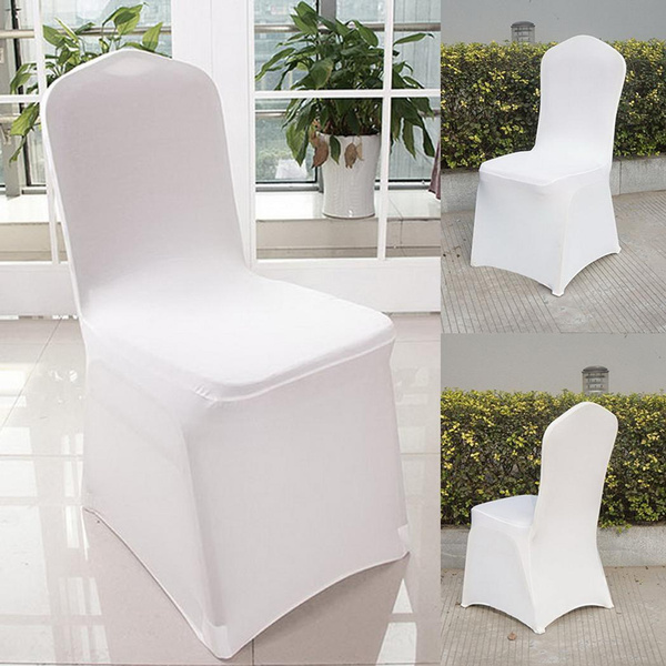 100pcs White Spandex Chair Covers for Wedding Supply Party Banquet Decoration