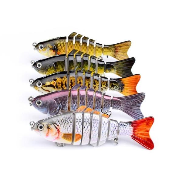 Wish | 2 pcs/lot Fishing Lure 7 Segment Swimbait Crankbait Hard Bait Slow 10cm 15.5g Isca Artificial Lures Fishing Tackle [<jiaw>]