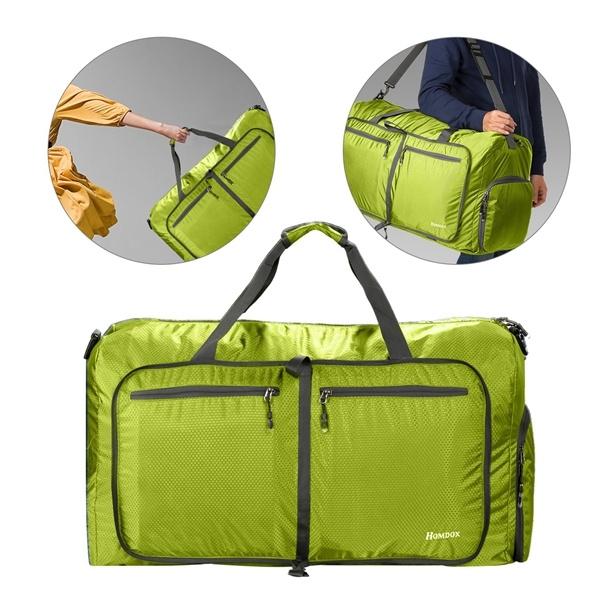 75fc6e570cb3 Large Size 80L Durable Duffel Camping Bag Waterproof Lightweight Gym Bag  Packable Folding Luggage Bag Rolling Bag for Men Women Rolling Bag