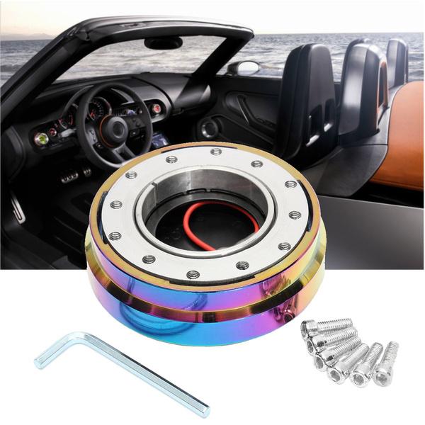 "Universal Steering Wheel 6 Bolt Hub Adapter 1.5/"" Short Quick Release Neo Chrome"