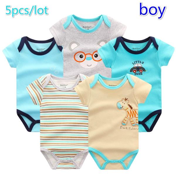 Paquete  5 Unidades   Set Característica  Traje de bebé infantil. Tipo  Ropa  de verano para bebé. Estilo  New Born Baby Girl Romper 6011bb935983