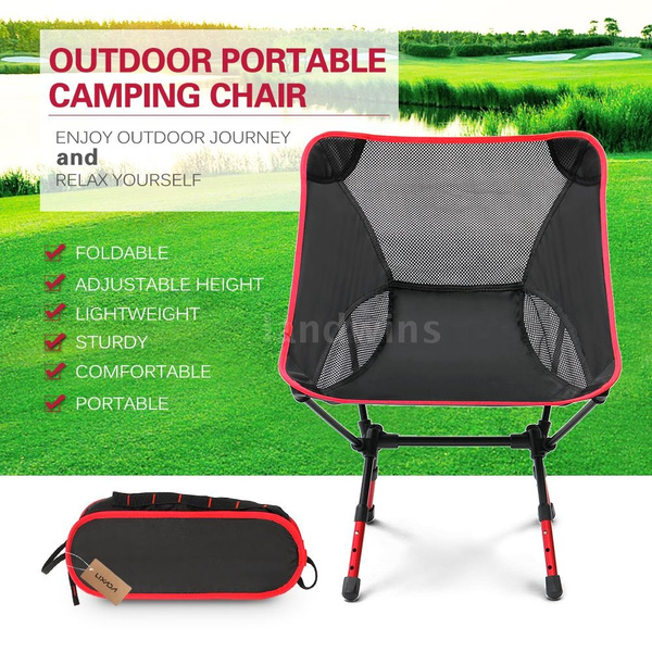 Superb Lixada Portable Ultralight Folding Camping Chair With Adjustable Height Compact Fishing Chair Seat For Outdoor Camping Leisure Picnic Beach Chair Gmtry Best Dining Table And Chair Ideas Images Gmtryco