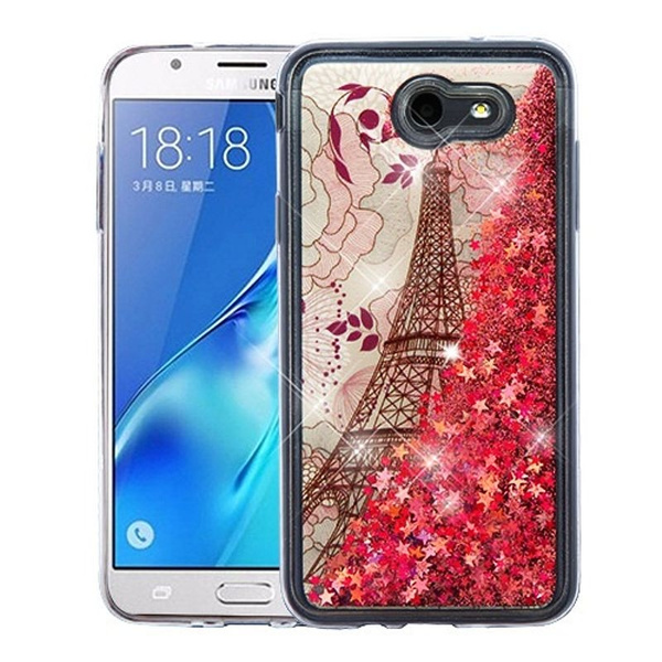 best website 5a386 0433e Samsung Galaxy J7 (2017)/J7 Perx/J7 Sky Pro/J7 V Case, by Insten Quicksand  Eiffel Tower Hard Plastic/Soft TPU Rubber Case Cover For Samsung Galaxy J7  ...