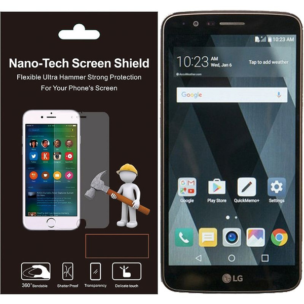 LG Stylo 3 Screen Protector, by Insten Clear Plastic Screen Protector LCD  Film Guard Shield for LG Stylo 3 LS777/K10 Pro/Stylus 3