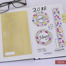Brass, stencilstemplate, Bullet, journaldiary