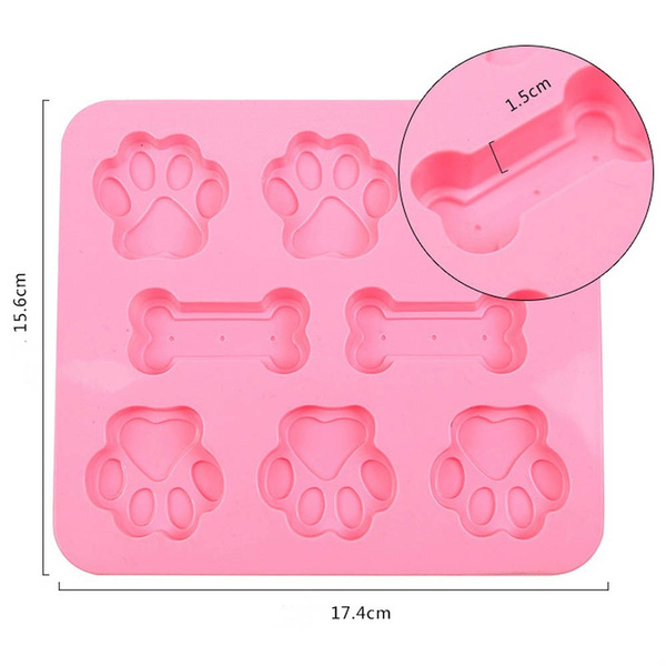 New Arrival Decoration Sugar Craft Mould Chocolate Mold Cavity Paw Print  With Bones Crafts Dog Paw Cake Mold Mould Mold Silicone Paw Bone