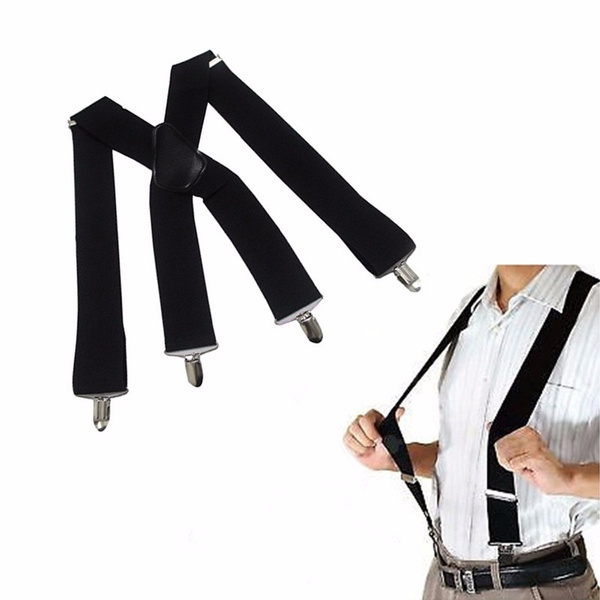 Men/'s Women/'s Clip-on Suspender Elastic X-Back Adjustable Fashion Braces