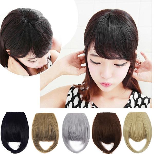 bangshairclip, Hair Extensions, Straight Hair, Makeup