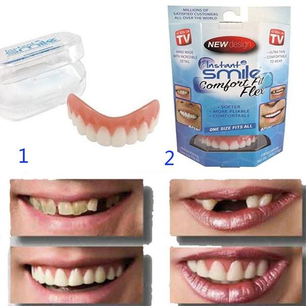Perfect Smile Veneers Denture Paste instant teeth flex fit press on veneers  covers CAS