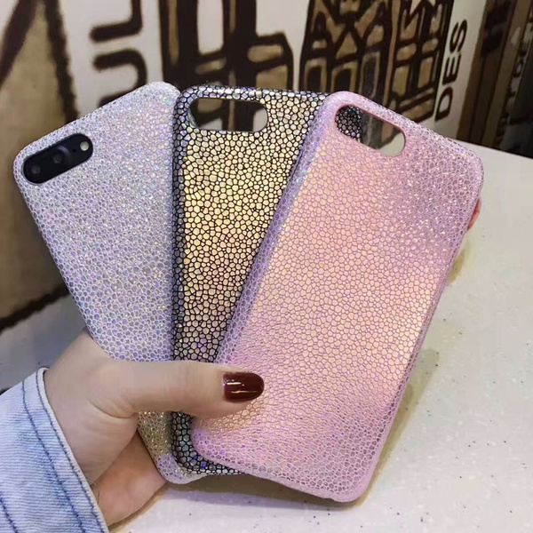 Silver Glitter iPhone Case iPhone X Mermaid Scales Phone Fundas