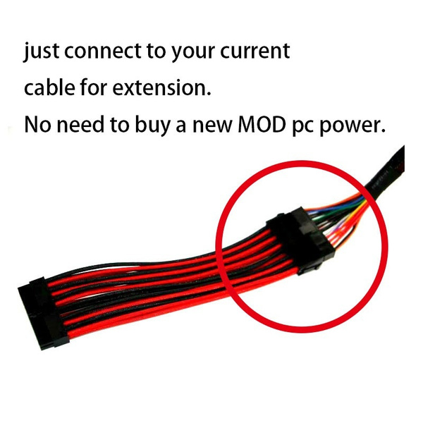 Wish | Black sleeved motherboard graphics card extension cable ATX ...