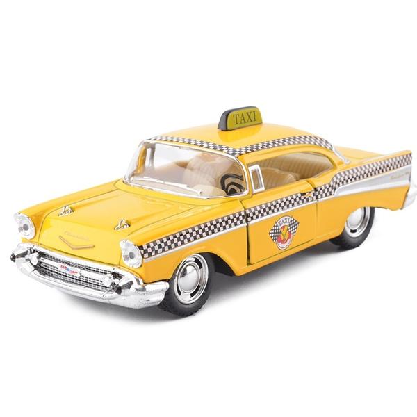Geek New Kinsmart 140 Scale Car Toys 1957 Chevrolet Bel Air Taxi