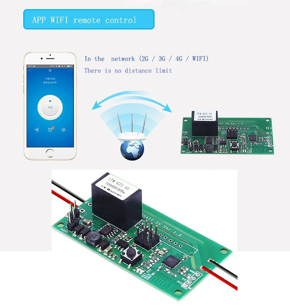 Safe Voltage WiFi Wireless Switch Module Support Secondary Development for  smart home dc5v-24v (Size: sonoff sv)
