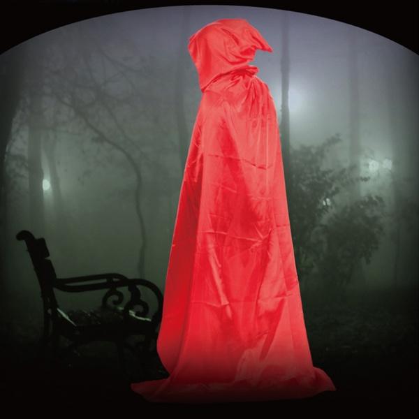 Hooded Long Cloak Wicca Robe Wedding Cape Halloween Fancy Dress