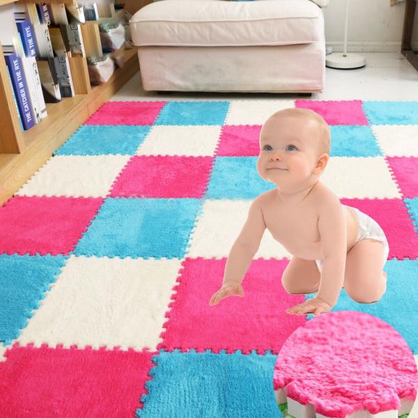 30 30 Cm Warm Plush Floor Mat Puzzle Eva Foam Floor Mat Baby