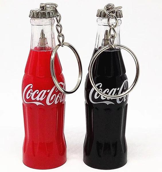 ballpoint pen, drawingtool, cokebottle, portable
