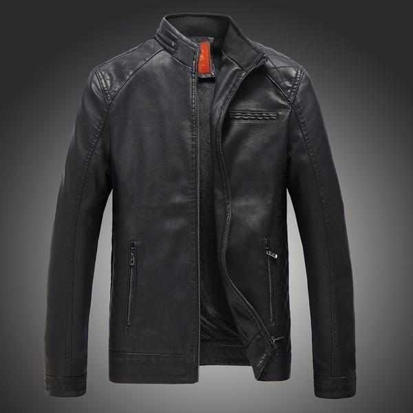 Stand Collar, Casual Jackets, bikerjacket, Fashion