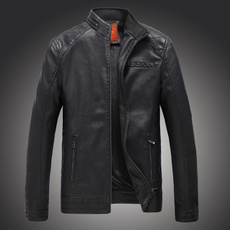 Stand Collar, Casual Jackets, bikerjacket, Moda
