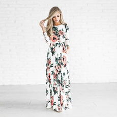 Summer, Plus Size, long dress, Rose