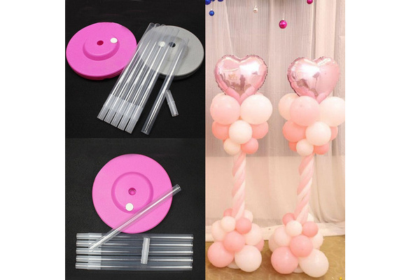 4PCS Fashion Eco-friendly Plastic Portable Column Wedding Decor Balloon Pole Plastic Sticks