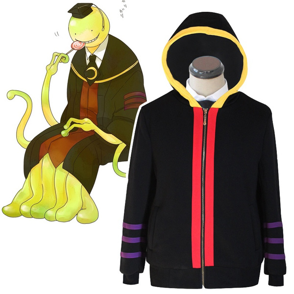 Assassination Classroom Korosensei Casual Hoodie Cosplay Costume  Coat Jacket