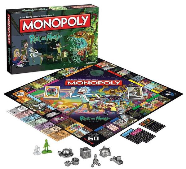 Rick e Morty Monopoly Board Game